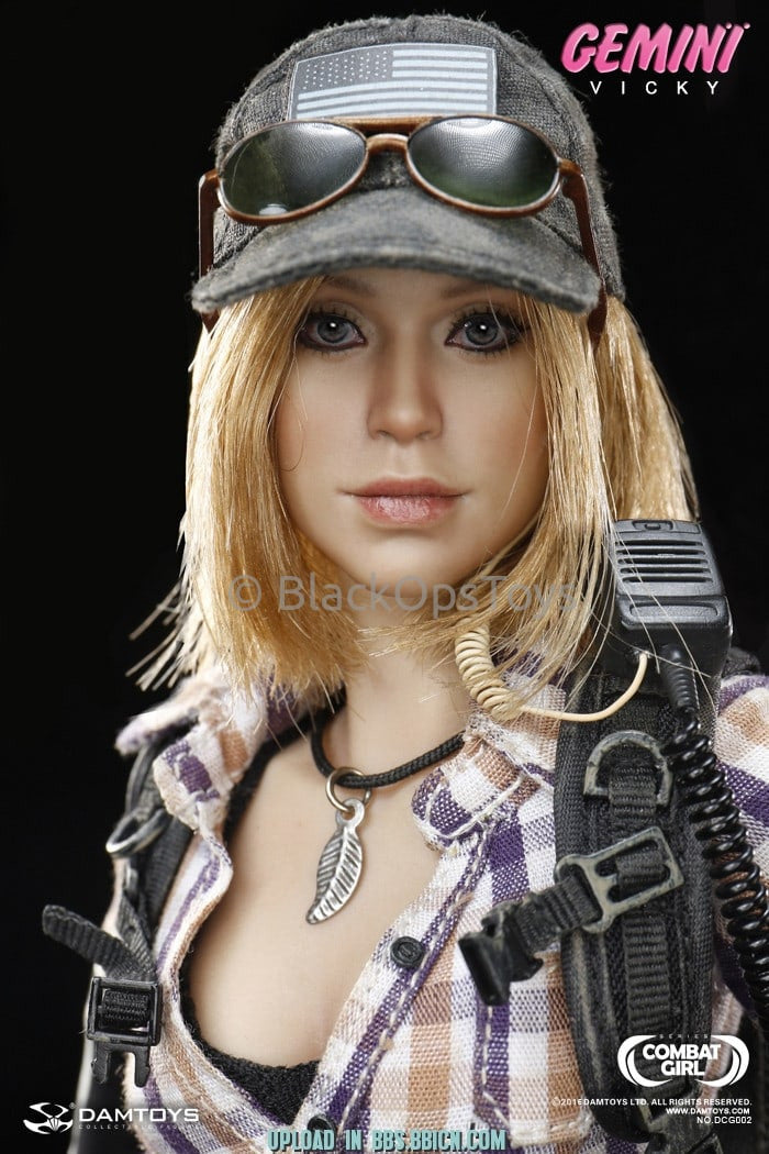 Combat Girl Series Female PMC GEMINI - VICKY Black Multicam Hat