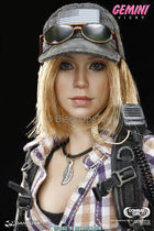 Combat Girl Series Female PMC GEMINI - VICKY Silver Leaf Necklace