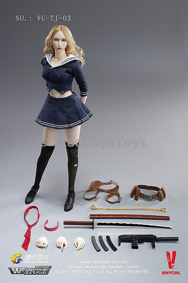 "Blade Girl 1/6 Scale Female ""Baby Doll"" Hands Set x5"