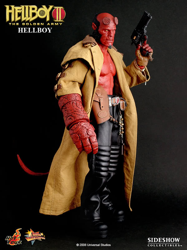 Hellboy 2 - MODIFIED Red Male Body & Head Sculpt w/Hands & Stand