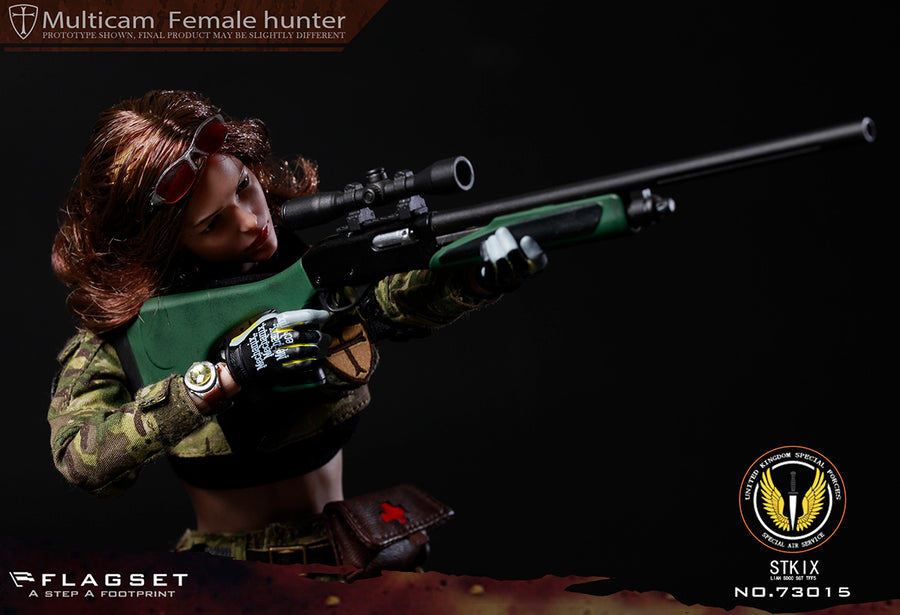 Female Special Forces - Black & Green Rifled Shotgun w/Scope