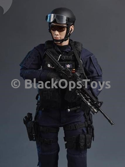 Hong Kong Airport Security Unit SAR 20th Anniversary Black Molle Vest & Pouches