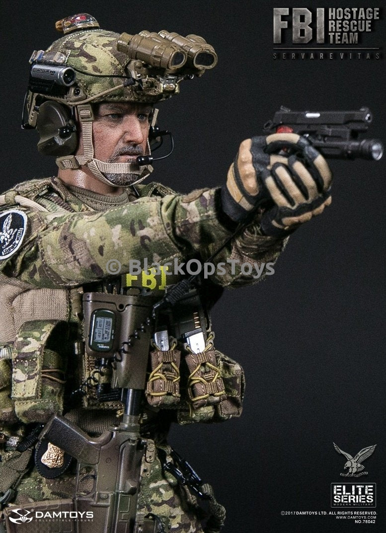 Dam Toys FBI HRT Agent Hostage Rescue Team Servarevitas Helmet w/Multicam Cover Set