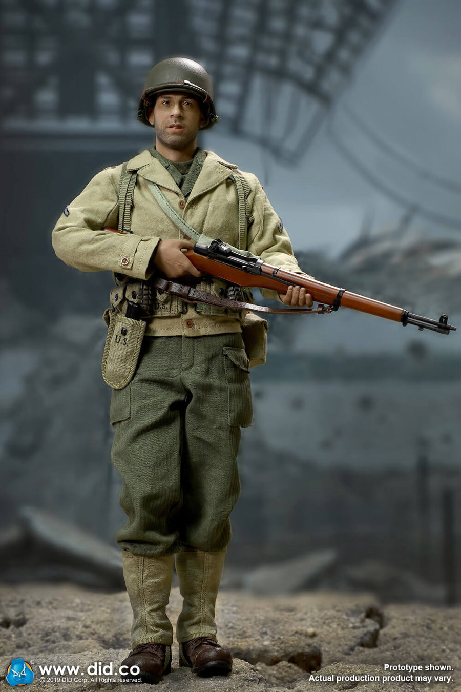 DID A80140 1//6 WWII US 2nd Ranger Battalion Series Private Caparzo Boots Model