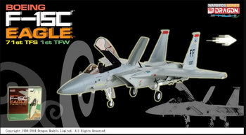 1/72 scale - Diecast Boeing F-15C Eagle Airplane Model - MINT IN BOX