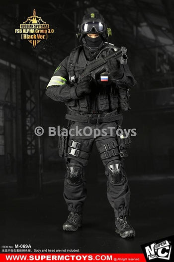 Russian Spetsnaz FSB Alpha Group 3.0 Black Version w/Male Body & Head Sculpt