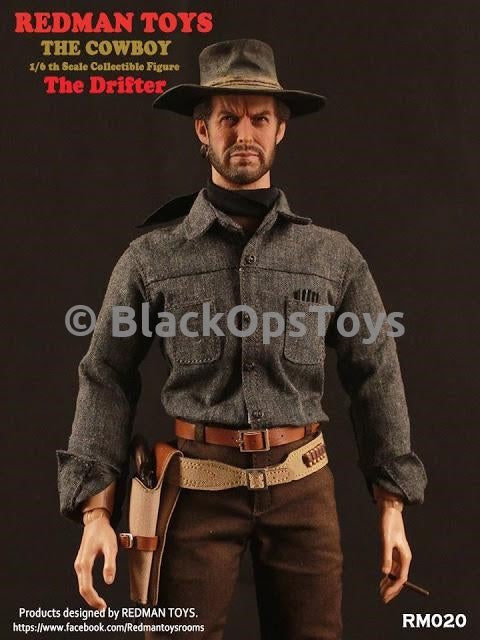 Redman Toys The Cowboy 1/6 Scale Collectible The Drifter Black Kerchief Scarf