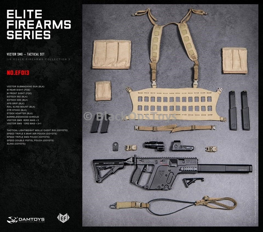 Black Kriss Vector SMG & Coyote Tan Chest Rig Set Mint In Box