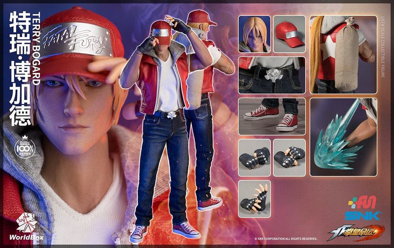 King Of Fighters - Terry Bogard - Black Leather-Like Belt