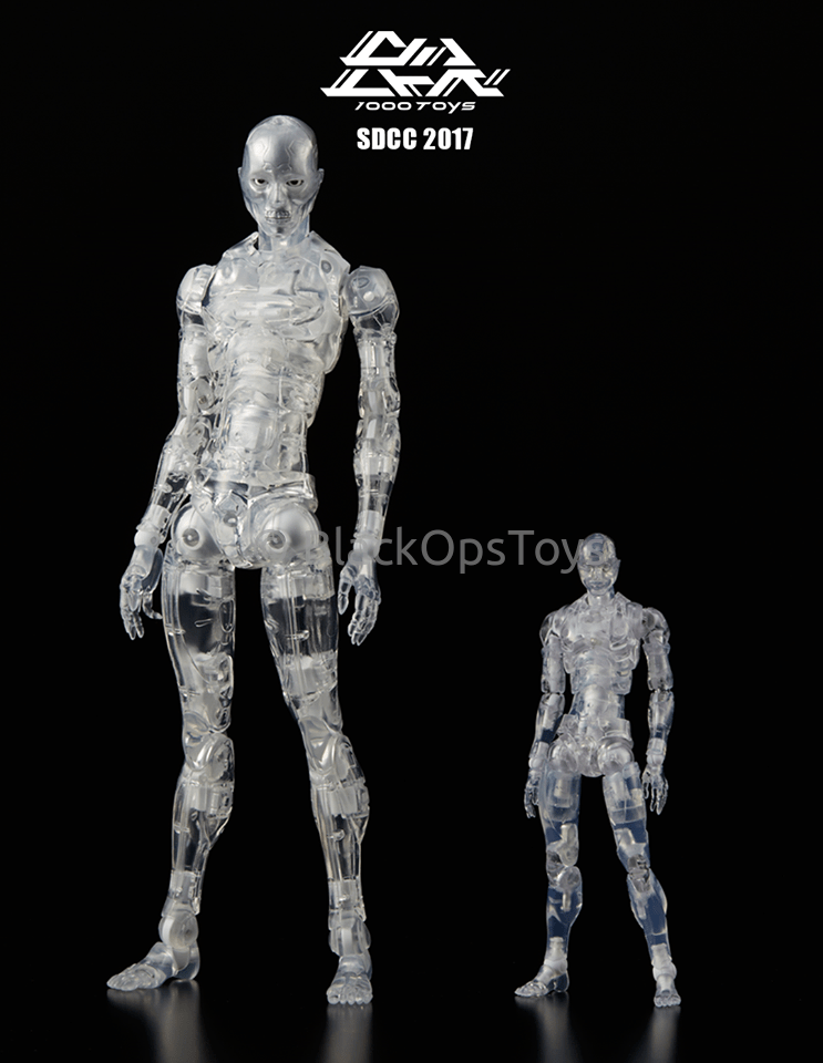 Sold Out 1000 Toys Synthetic 1/6 Human Clear Mint In Box SDCC 2017 Exclusive Number 204 of 300