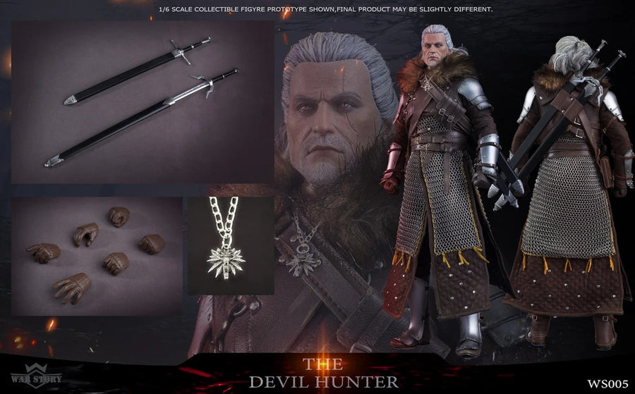 The Devil Hunter - Leather-Like Arm Protectors w/METAL Gauntlets