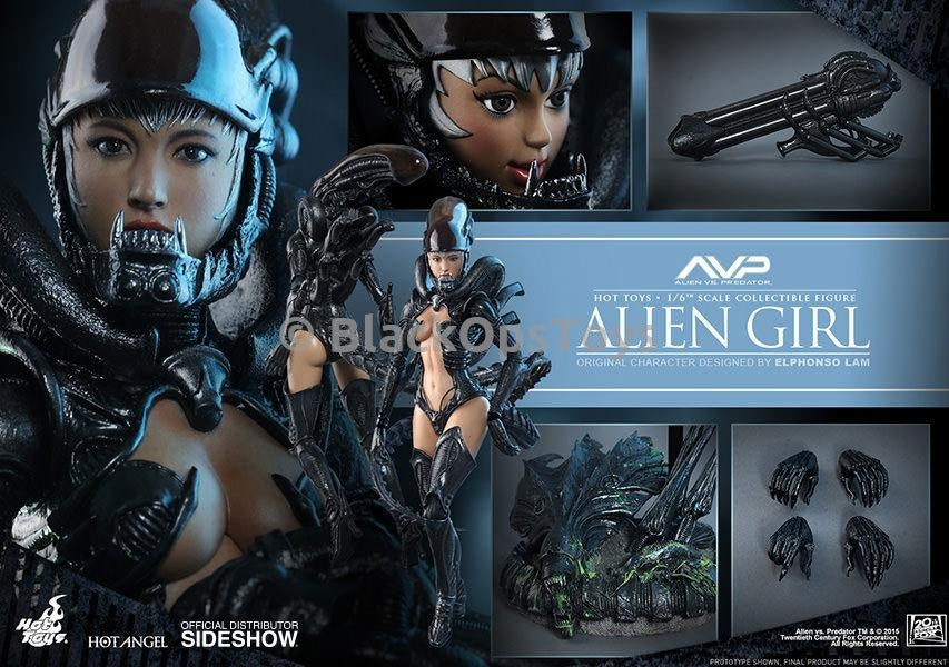 Hot Toys Alien VS Predator Alien Girl Cannon Blaster