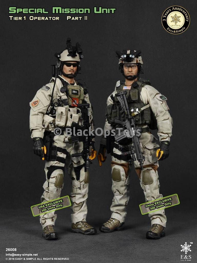 Tier-1 Operators Part II USA & China Exclusives COMBO PACK - Mint in Box
