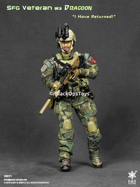 "Army SFG Special Forces Group Veteran aka ""Dragoon"" Mint in Box"