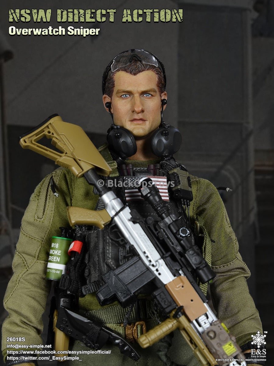 Easy & Simple x Blackopstoys Exclusive: NSW Direct Action Overwatch Sniper Male Headsculpt