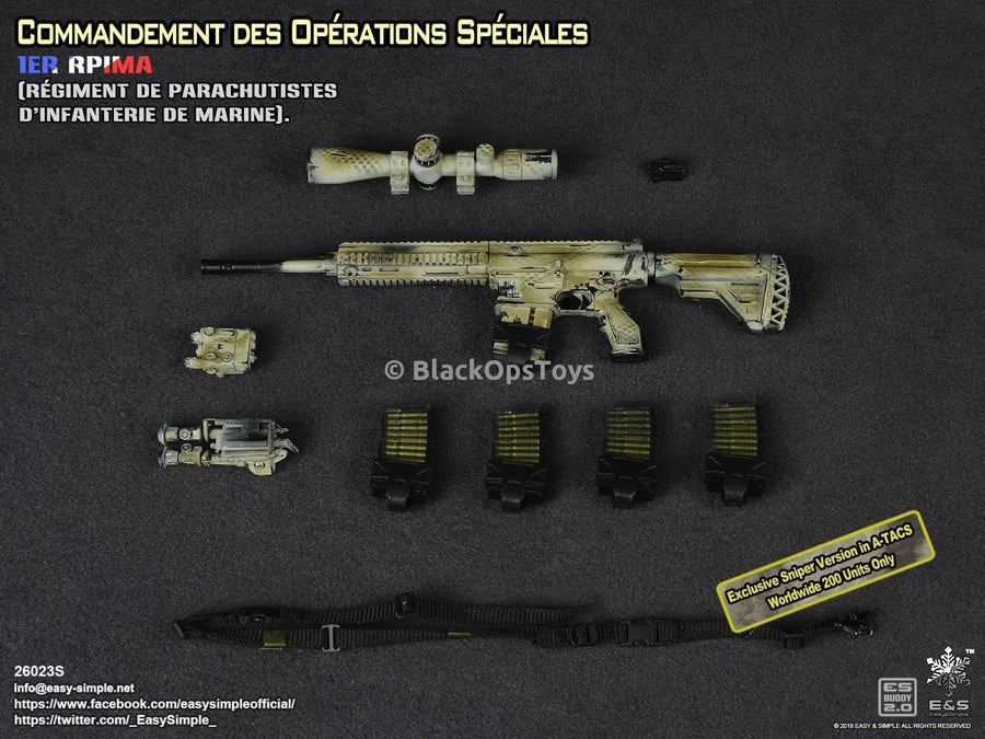 Commandement des Opérations Spéciales French 1er RPIMA Exclusive Sniper Version in Camo Mint in Box