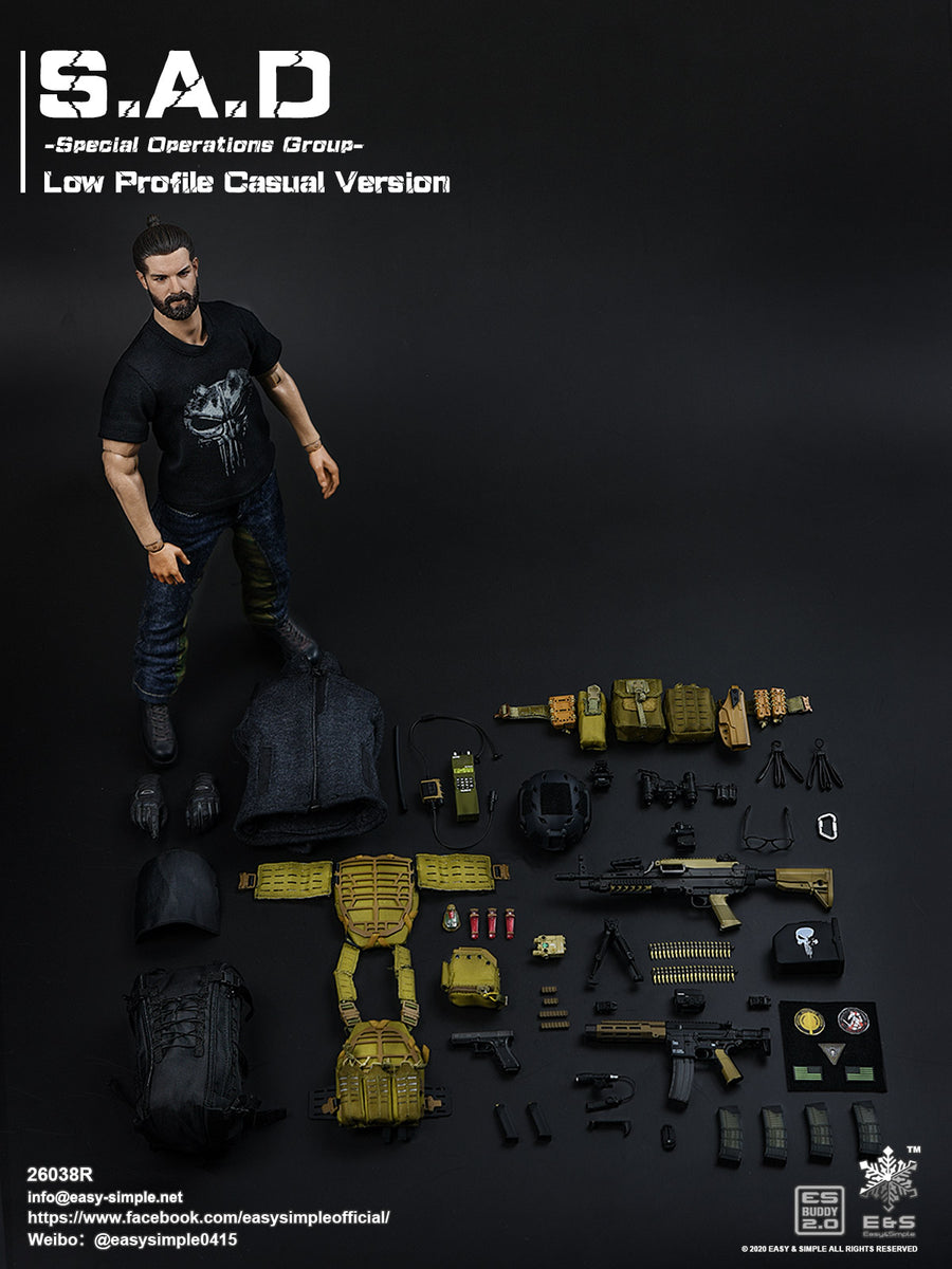 S.A.D. Low Profile - Black Ammo Drum w/Ammo Chain