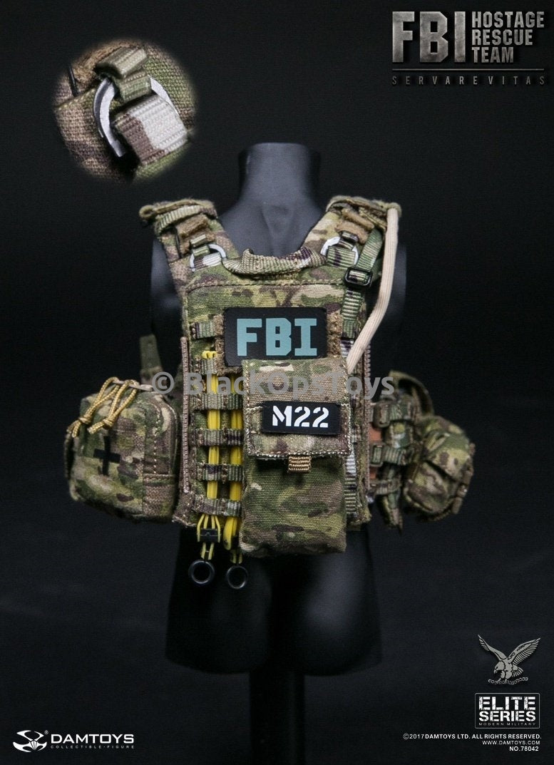 Dam Toys FBI HRT Agent Hostage Rescue Team Servarevitas Patches
