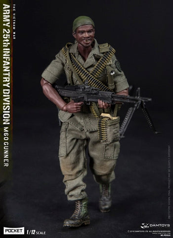 PREORDER - 1/12 - 25th Infantry Division M60 Machine Gunner - MINT IN BOX