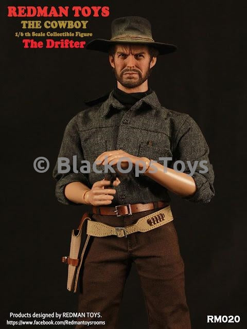 Redman Toys The Cowboy 1/6 Scale Collectible The Drifter Pistol & Holster Set