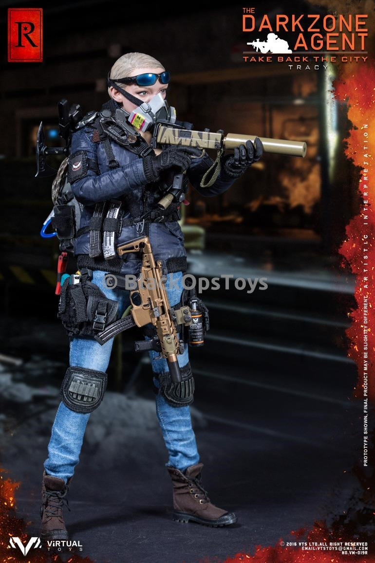 "VTS Darkzone Agent Tracy ""R"" Blue Coat Version Tiger Stripe MAC 11 Rifle"