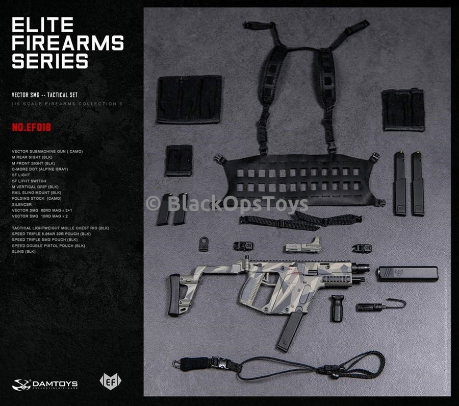 Camo Kriss Vector SMG & Black Chest Rig Set Mint In Box