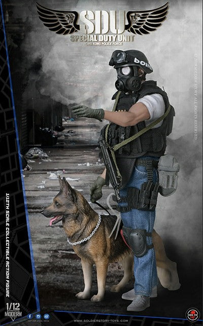 PREORDER - 1/12 scale - HK SDU Canine Handler - MINT IN BOX