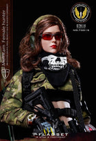 Female Special Forces - Black & Grey Gloved Hand Set (x3) Type 2