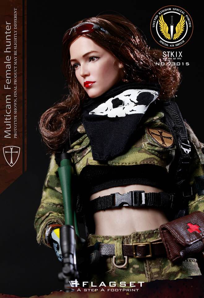 Black /& Grey Gloved Hand Set 1//6 Scale Toy Female Special Forces x3 Type 1
