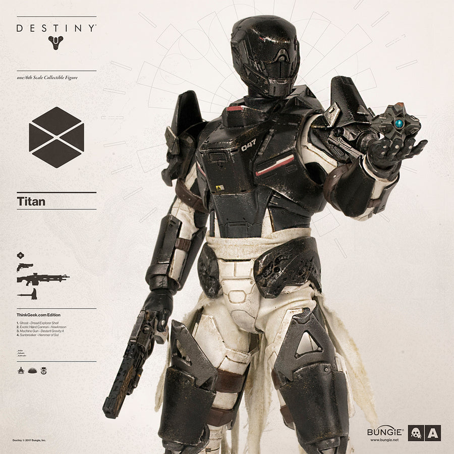 Destiny - The Hanged Man Titan - Black Gloved Hand Set (x4)