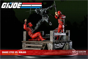 GI JOE - Snake Eyes VS Red Ninjas Polystone Diorama - MINT IN BOX