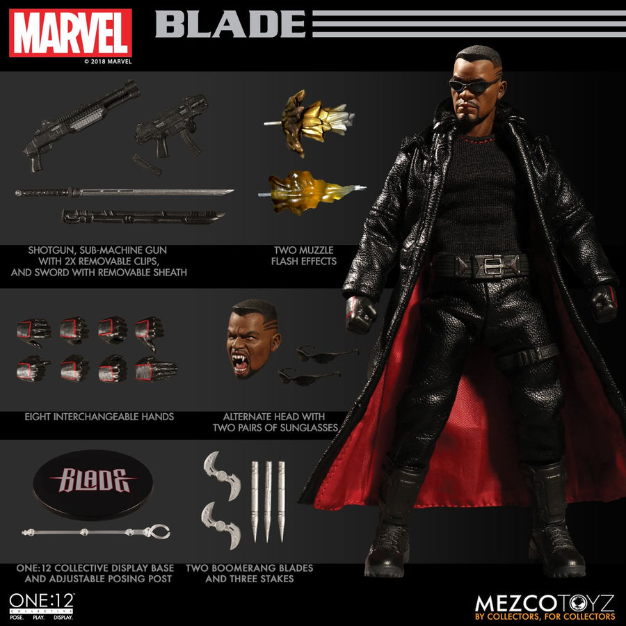 1/12 - Marvels - Blade - Throwing Blade w/Folding Action