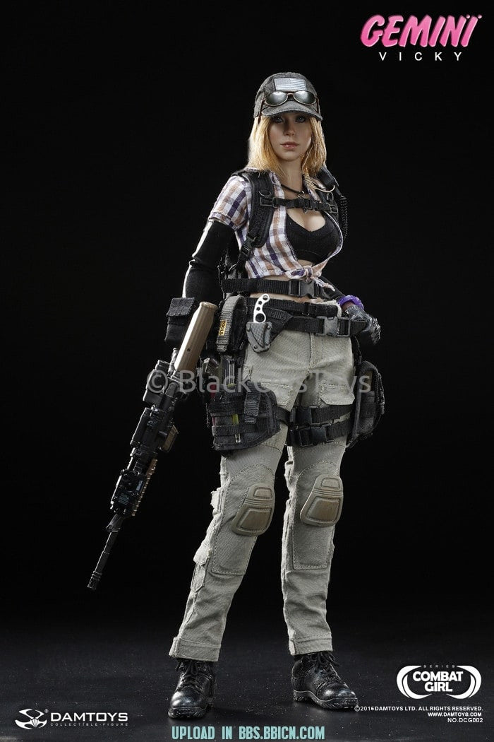 Combat Girl Series Female PMC GEMINI - VICKY Mid Drift Brown