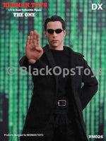 The Matrix Neo Keanu Reeves Black Sunglasses