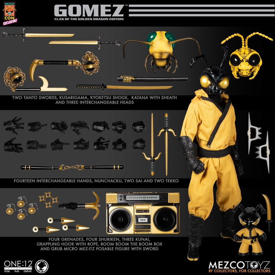 1/12 - Golden Dragon - Gomez - Bow w/Quiver & Arrows Set