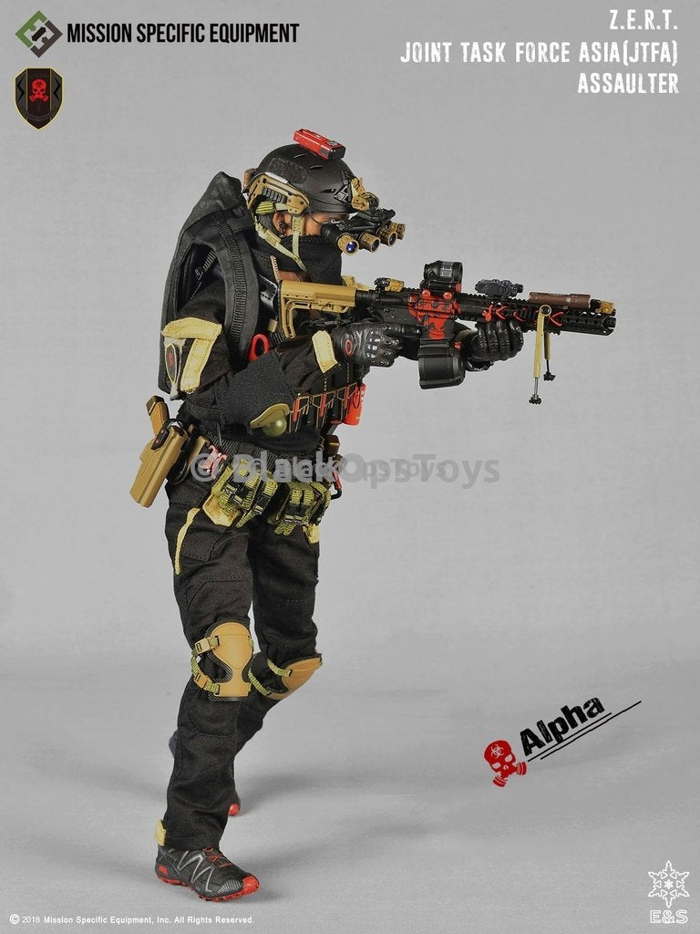 ZERT Joint Task Force Asia Black & Tan Alpha Version 5.56mm Low Profile Assault Rifle