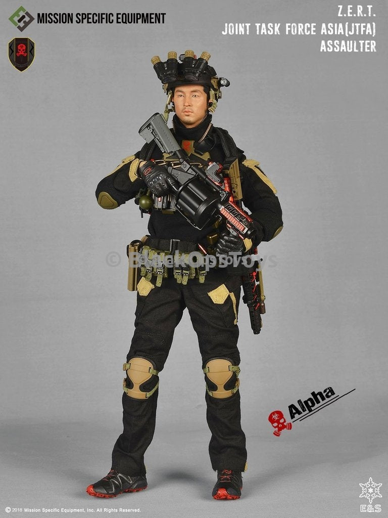 ZERT Joint Task Force Asia Black & Tan Alpha Version Knee Pads