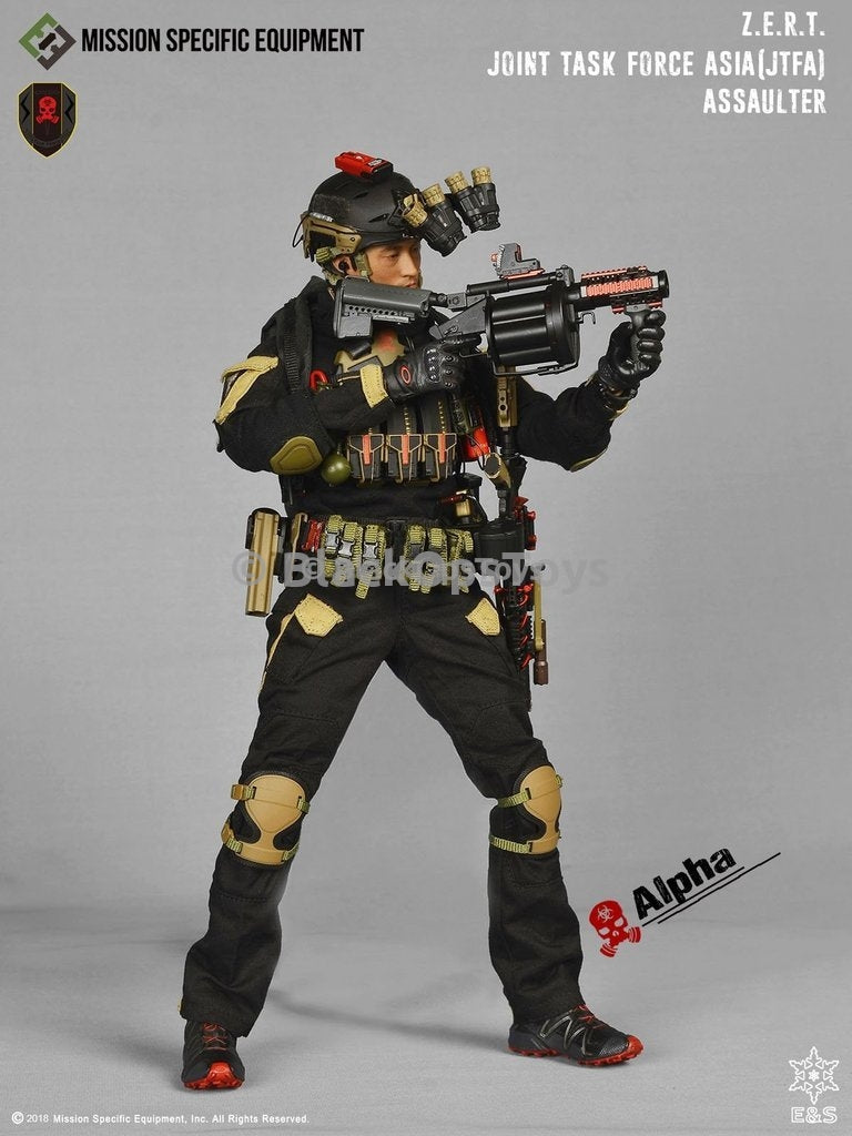 ZERT Joint Task Force Asia Black & Tan Alpha Version Combat Uniform Set