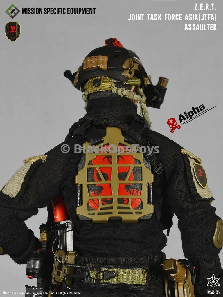 ZERT Joint Task Force Asia Black & Tan Alpha Version Biohazard Skull Carrier Vest Set