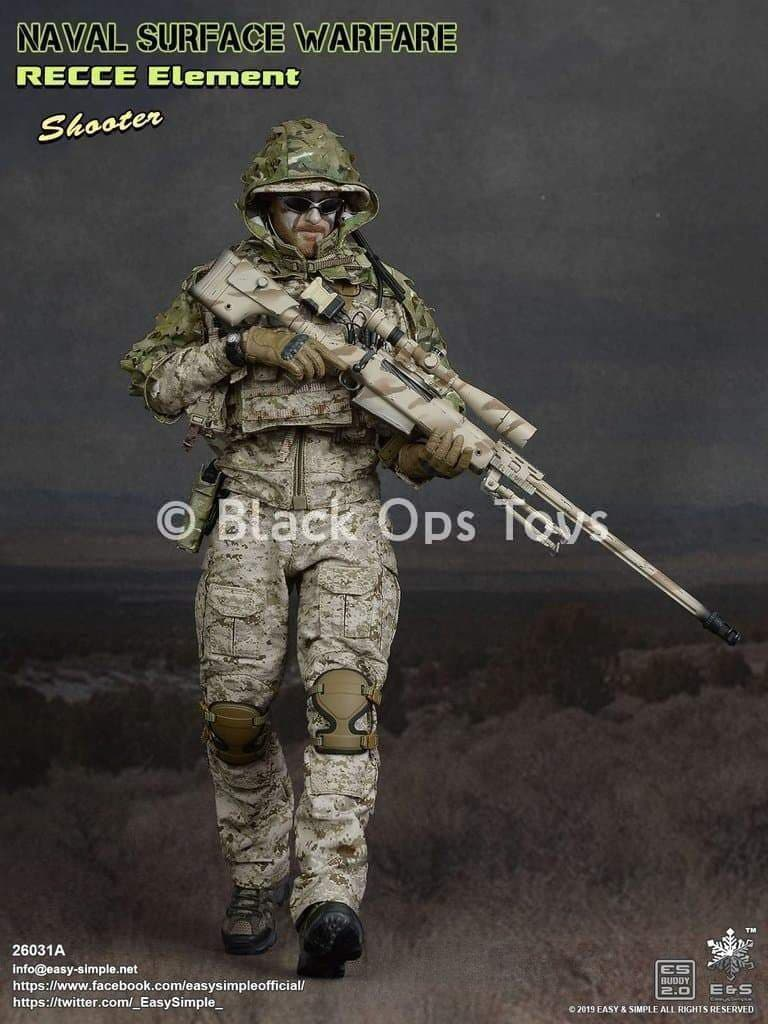 Navy SEAL - Sniper Shooter - Male Head Sculpt