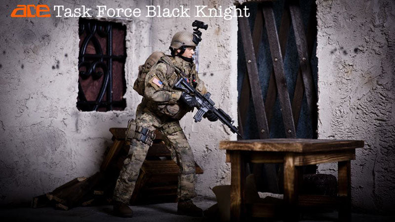 Iraq - Black Knight Spec. Ops. - Black Combat Knife w/Sheath