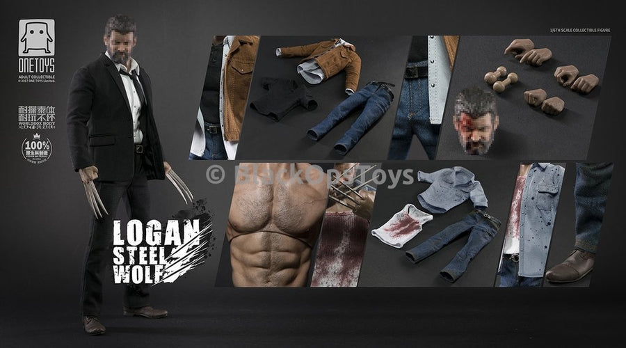 X-Men Logan Wolverine Steel Wolf Max 3 Version Blood Stained Male Base Body