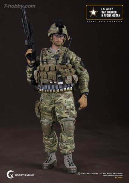 U.S. Army ISAF Soldier - Male Base Body w/Head Sculpt