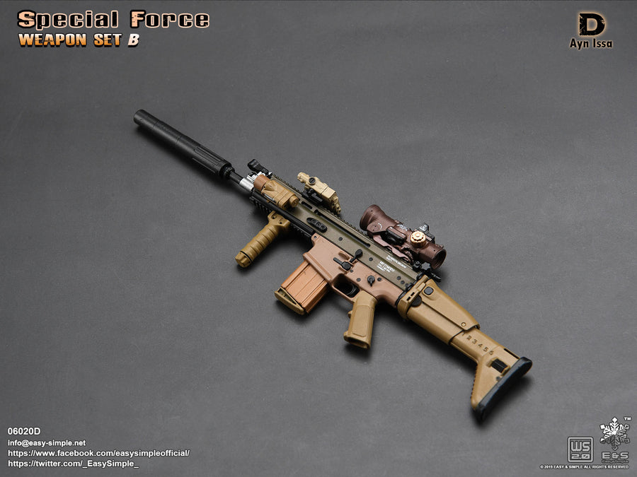 Special Force Weapon Set B - Ayn Issa Scar-H w/Accessory Set