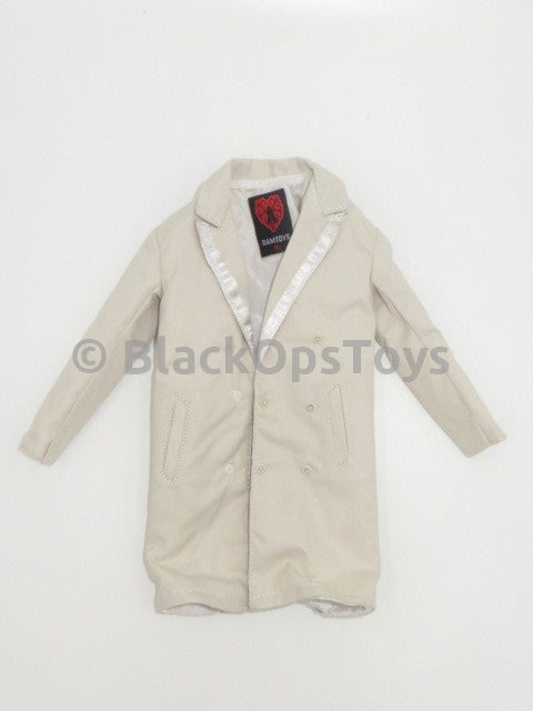 Heart A Billy White Trench Coat