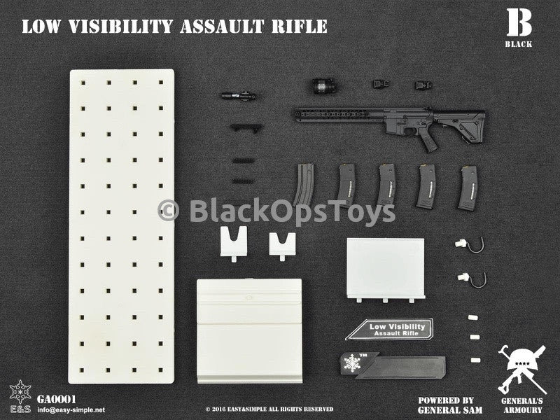 General's Armoury Low Visibility Assault Rifle BLACK Mint In Box