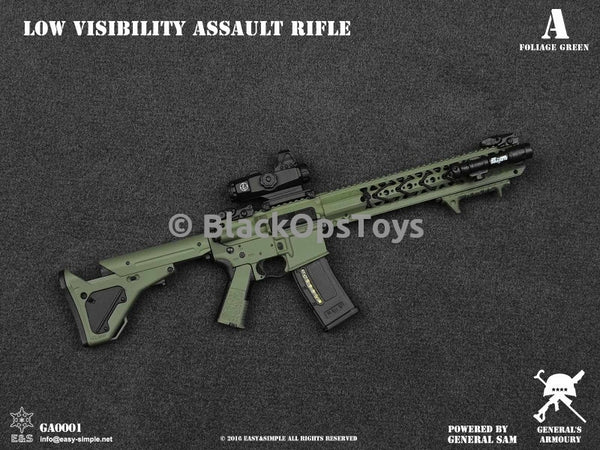 General's Armoury Low Visibility Assault Rifle FOLIAGE GREEN Mint In Box