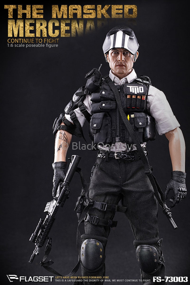 "Army of Two Masked Mercenaries ""Continue To Fight"" Nude Male Body w/Headsculpt"