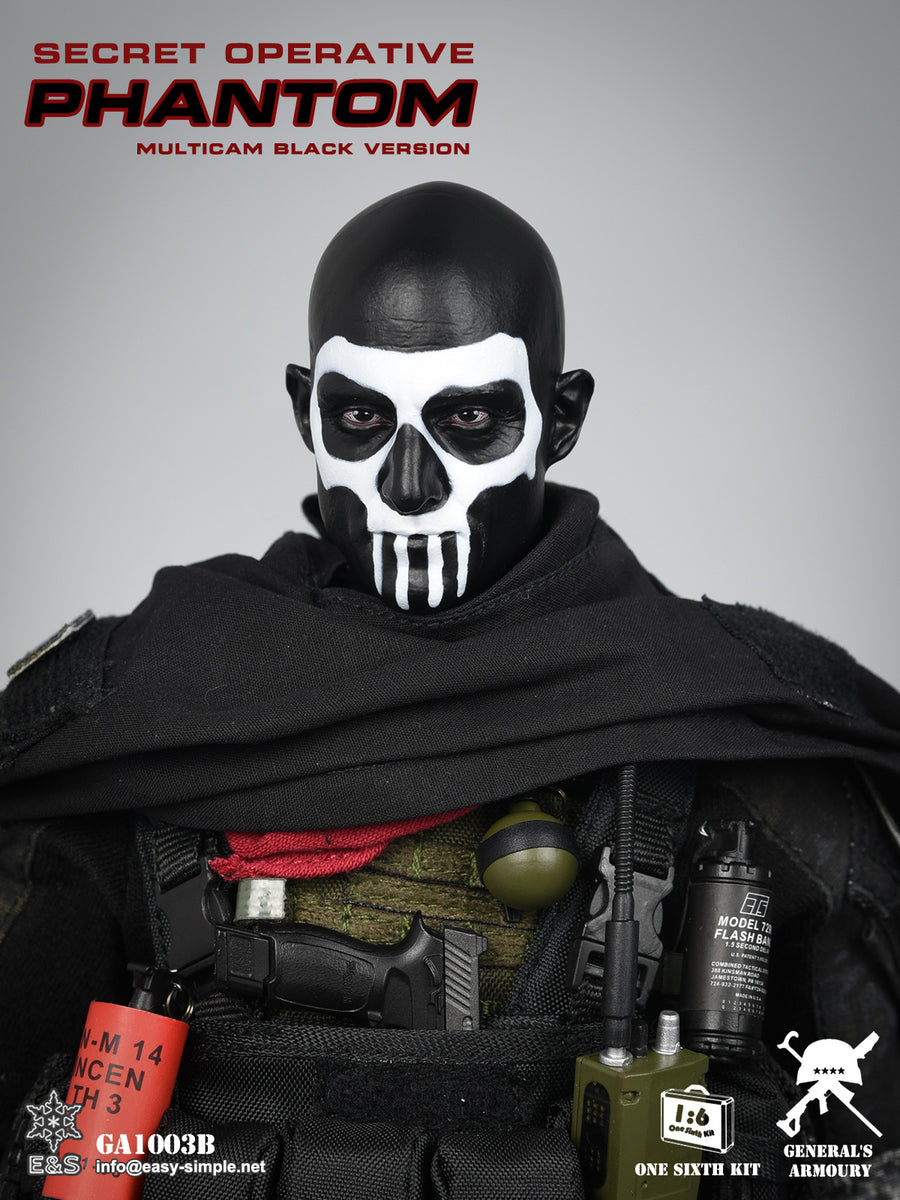 Phantom Black Muticam Version - Male Body w/Painted Head Sculpt