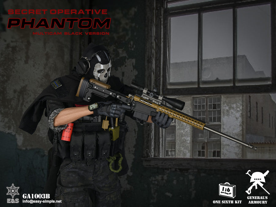 Phantom Black Muticam Version - Radio w/Black Headset